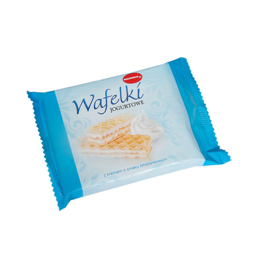 Wafers with yoghurt-cream flavoured filling
