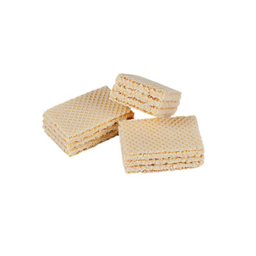 Wafers with coconut filling