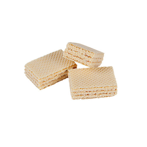 Wafers with cream flavoured filling