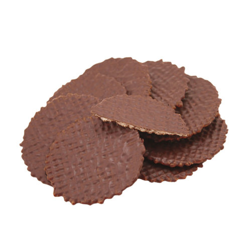 Rondelini - round dry wafers covered with chocolate